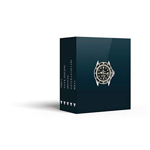 (Montres d'exception : Coffret 5 volumes : Rolex ; Omega ; Patek Philippe ; Jaeger-LeCoultre ; Breitling)