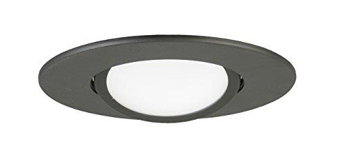 Lithonia Lighting Retrofit LED Gimbal Lower Lumen Recessed Downlight, 3000K, 10.8 watts, 600 Lumens, 5 Inch, Matte Black