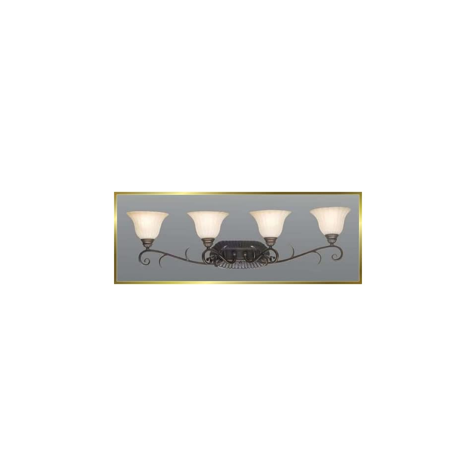 Wrought Iron Wall Sconce, JB 7374, 4 lights, Oiled Bronze, 37 wide X 10 high
