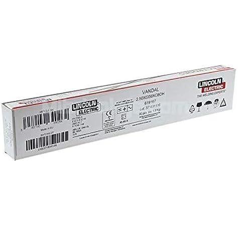 Electrodo basico Vandal Lincoln 2,5x350 Caja 90 Unidades: Amazon.es: Bricolaje y herramientas