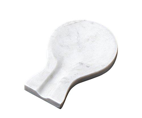 Creative Home 32741 Natural Marble Spoon Rest Utensil Holder, 7.9