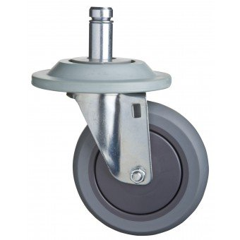 Focus Foodservice FTPRCST5C 5 in. TPR swivel stem caster & bumper - Pack of 4 by Focus Foodservice