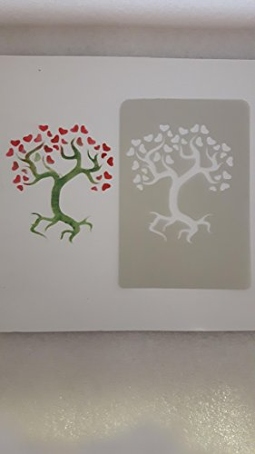 Acetate Borders (2 x Tree of life with hearts acetate card making stencils wall borders)