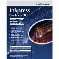 """Inkpress Duo Matte 30 Inkjet Paper, 110 gsm Weight, 5 mil Thickness, 98% Brightness, Double Sided, 13x19"""", 50 Sheets"""