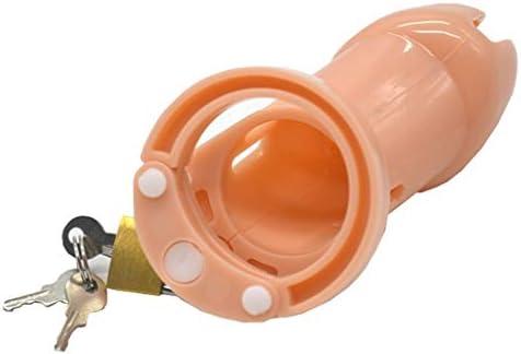 Pllxq 肌の色CBプラスチック貞操ロックメンズアンチ脱線JJケージ代替興味深い製品 (Size : M 80mm)