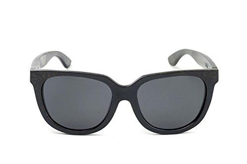 Women's Charcoal Black Bamboo Sunglasses x Smoke - Swell Glasses