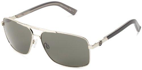 VonZipper Metal Stache Square Sunglasses,Silver,One - Good Von Are Sunglasses Zipper