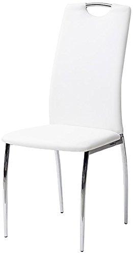 Sedie In Pelle Bianca.Cribel Alba Set Sedia Finta Pelle Metallo Cromato 4 Pezzi Bianco