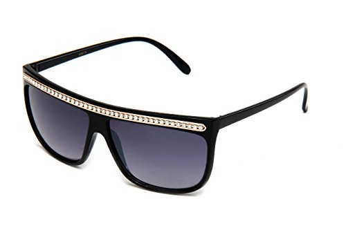 Kyra Women's Sleek Design Chain Link Slim Temple Fashion Sunglasses in - Sunglasses Chain Gucci