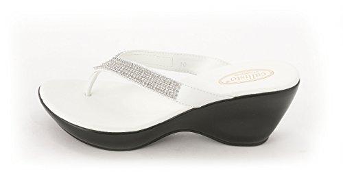 Callisto - Sandalias de vestir para mujer blanco