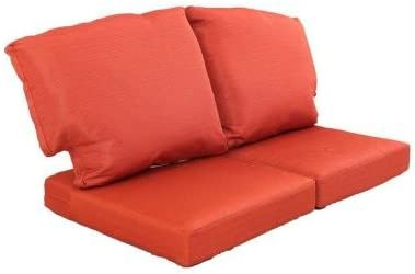 Martha Stewart Living Fast Drying Charlottetown Replacement Outdoor Loveseat Cushion 1, Quarry Red