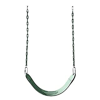 "Swing-N-Slide Heavy Duty Green Swing Seat - 58"" Vinyl Coated Chain Backyard Playground Swing for Replacement or Accessories"