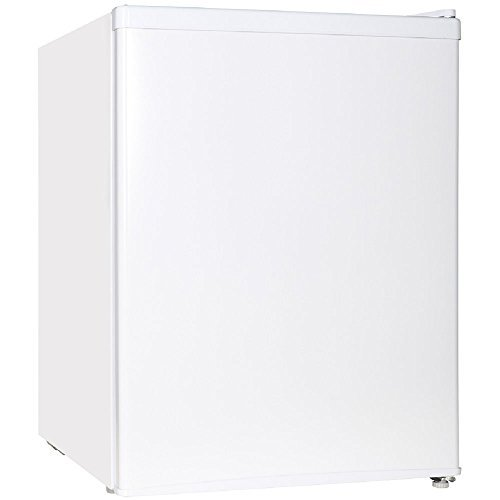 Midea WHS-87LW1 Refrigerator, 2.4 Cubic Feet White]()
