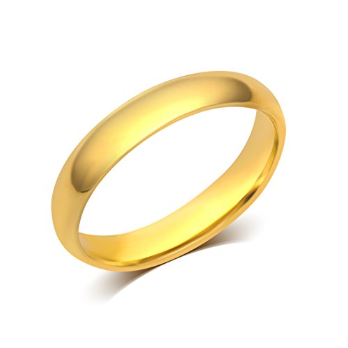 4 mm Plain Wedding Band in 10K Yellow Gold