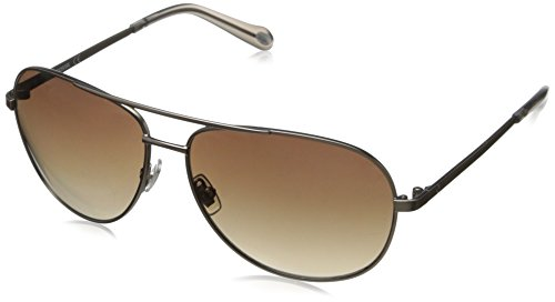 Fossil FOS3010S Aviator Sunglasses,Almond,59 - Sunglasses Fossil Womens