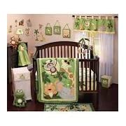 NoJo Jungle Babies 9 piece Crib Bedding Set