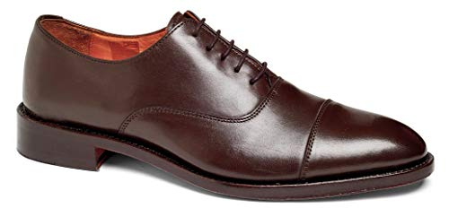 Anthony Veer Mens Clinton Cap-Toe Oxford Leather Shoe in Goodyear Welted Construction (11 D, Brown)