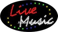 Live Music Flashing & Animated LED Sign (High Impact, Energy Efficient)