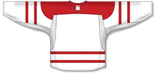 - 2010 Team Canada White Square Short V-Neck Pro Plain Blank Hockey Jerseys