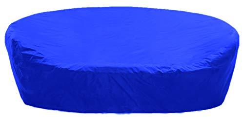 KaufPirat Premium Abdeckplane Rund Ø 170x85 cm Blau Gartenmöbel Gartentisch Abdeckung Schutzhülle Abdeckhaube Outdoor Round Patio Table Cover