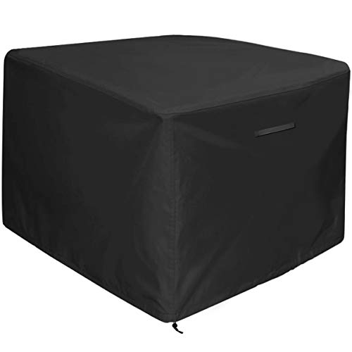 """Amolliar Fire Pit/Table Cover 32 inch by 32 inch,Black(32""""L x 32""""W x 24"""