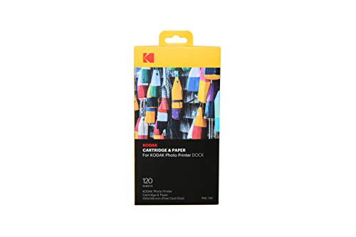 Kodak Dock & Wi-Fi Photo Printer Cartridge PHc - Cartridge Refill & Photo Paper - 120 Pack