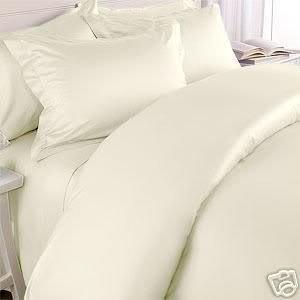 ITALIAN 1500 Thread Count 100% Egyptian Cotton KING Duvet Cover Set, IVORY