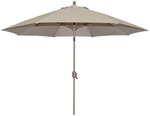 Tropishade Auto Tilt 9 ft Aluminum Umbrella 8 Ribs with Beige Poly Cover