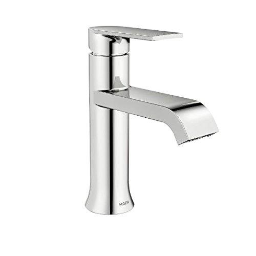 Moen WS84760 Chrome Genta 1.2 GPM Single Hole Bathroom Faucet