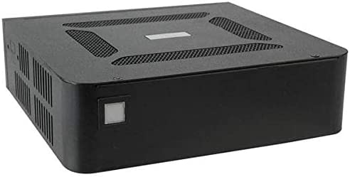 with one 2.5 HDD Black RoHS IEI Mini-ITX Embedded Chassis w//o Power Adapter for DC Input Model only