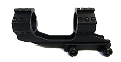 """Monstrum Tactical Offset Dual Ring Scope Mount with Top Rails for 30mm or 1"""" Scopes"""