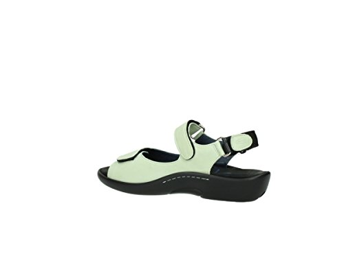 Sandals Wolky Leather 1300 Salvia Light 270 Green Womens 77BP4F