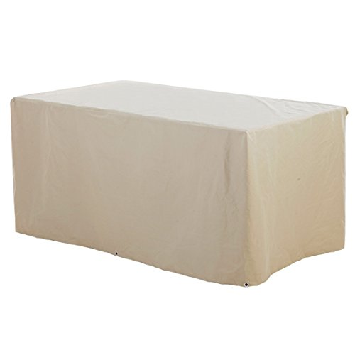 grand live Beige Patio Table Cover 300g/m? (Rectangular-Small Size) 73X41x33inch - Durable Water Resistant Furniture Set Cover by grand live