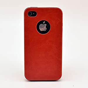 LZXSolid Color Pattern TPU Soft Case for iPhone 4/4S , Black