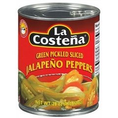 La Costena Slice Jalapeno Pepper, 28 Ounce -- 12 per case.