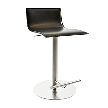 Sensational La Palma Thin Bar Stool Adjustable Dark Brown Leather Squirreltailoven Fun Painted Chair Ideas Images Squirreltailovenorg