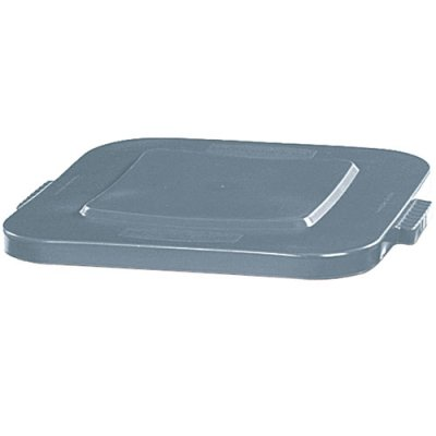 Verified Exchange Gray Flat Lid for 28 Gallon Square Brute Containers (1 Lid)