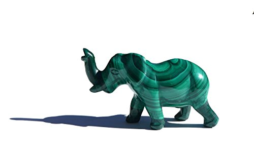 2 inch Malachite Elephant Animal Totem Figurine