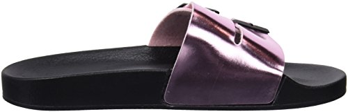 D. Franklin Women's Buckle Metal Slides Open Toe Sandals Pink (Rosa Metal 30) 6aTk0pmkMA