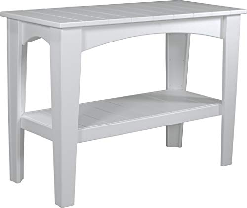 (Furniture Barn USA Outdoor Island Buffet Table - White Poly Lumber - Recycled Plastic)