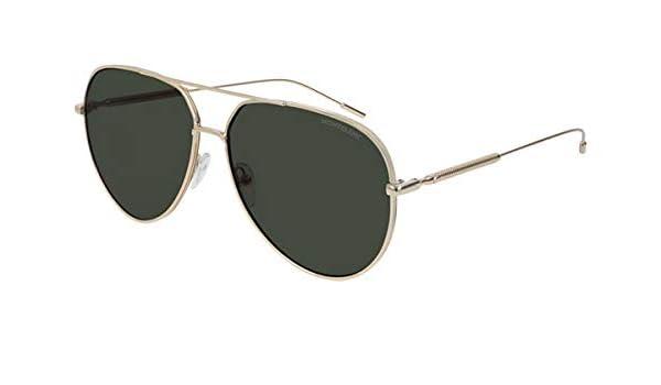 Mont Blanc Gafas de Sol MB0045S Gold/Green Hombre: Amazon.es ...