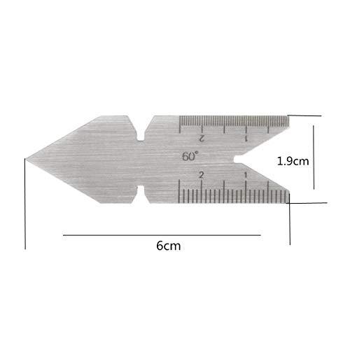 UK 55° / ISO Metric 60° / USA 60° Center Gauge Screw Cutting Thread Pitch Measuring Lathe Tool