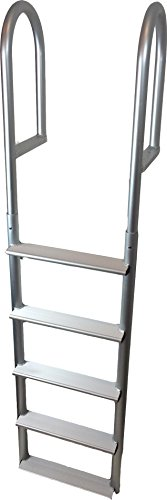 RecPro Marine ADL-A5W 5 STEP STATIONARY STRAIGHT DOCK BOAT LADDER 20