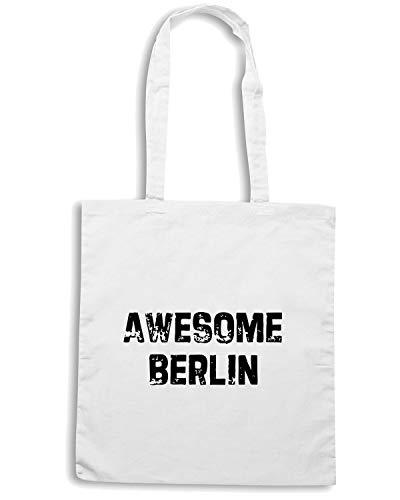 BERLIN Shirt Bianca OLDENG00014 Borsa AWESOME Speed Shopper 7zBqq