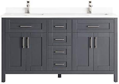 Ove Decors Tahoe-Lux 60 in. Bathroom Vanity Cabinet Freestanding Double Sink