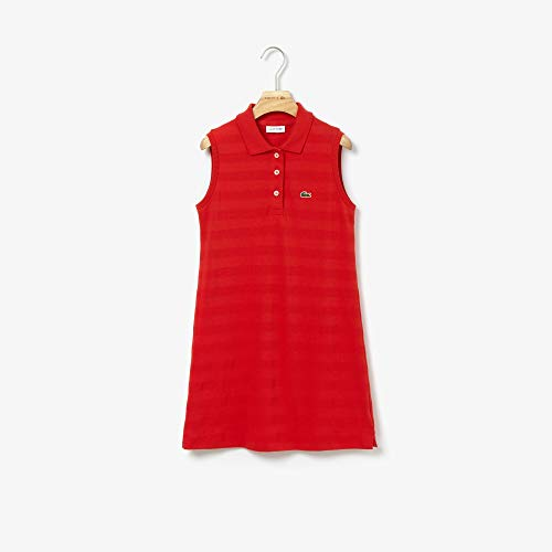 Vestido, Lacoste, Infantil Unissex, Vermelho, 10 anos