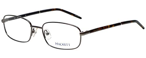 Hackett London Designer Reading Glasses HEK1060 in Gunmetal with Anti Reflective Coated Lenses +2.00