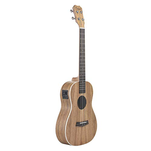 Caramel CB104 Zebra Wood Matt Finish Baritone Acoustic Electric Ukulele With Truss Rod (Caramel Finish Medium)