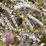 Krafty Klassics 1/2 lb (8oz) White/Gold Metallic Mix Crinkle Cut Crimped Paper Shred
