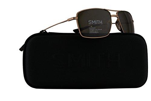 Smith Turner Sunglasses Matte Gold w/ChromaPop Polarized Grey Green Lens - Returns Smith Optics